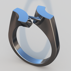 3D print model 55 degree angle ring , ddanon124
