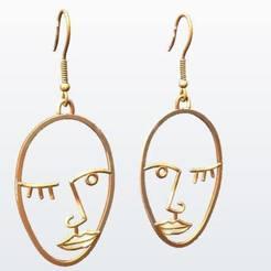 Télécharger fichier imprimante 3D Boucles d'oreilles Picasso, KalamityKontact