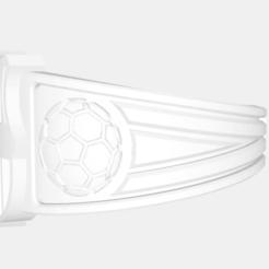 Download free 3D printer files FCB Soccer ring cad design, KalamityKontact