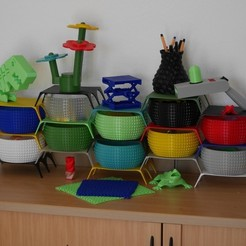 Download free 3D printing files Shelf System for Faceted Bowl, SunShine