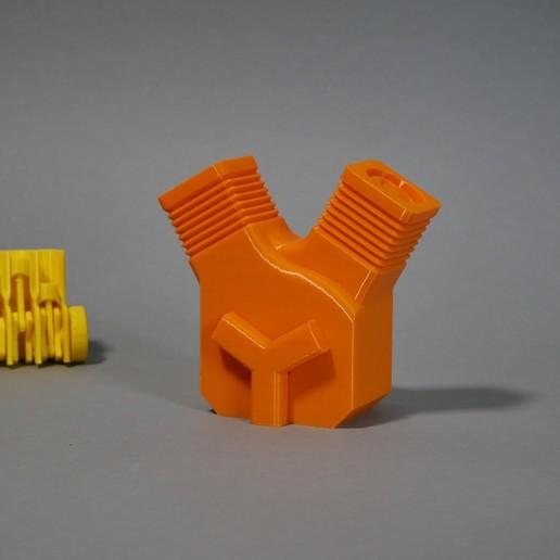 1.JPG Télécharger fichier STL gratuit Imprimez en place le moteur V-Twin ! • Plan pour impression 3D, SunShine