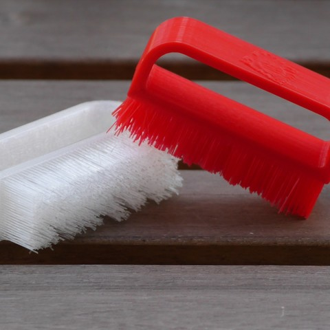 Download free 3D printer designs Nail Brush - Fully 3D printed!, SunShine