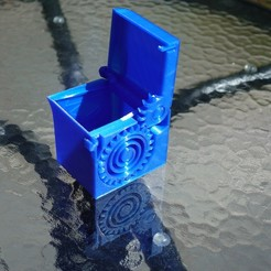 Download free 3D printer files PRINT-IN-PLACE SPRING LOADED BOX, SunShine