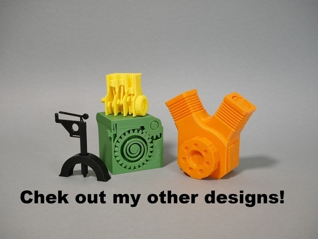 check out my other designs.JPG Download free STL file Print in Place Engine Keychain! • 3D printer object, SunShine
