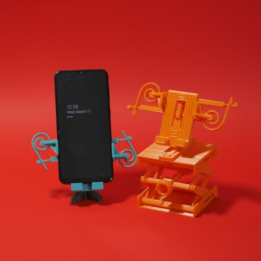 3.JPG Download free STL file PRINT-IN-PLACE PHONE HOLDER - FOR SPACE?! • 3D print object, SunShine