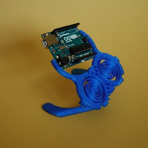 DSC04197.JPG Download free STL file Print In Place PCB-Holder / Gripper • 3D printable template, SunShine