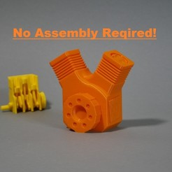 0a.jpg Download free STL file Print in Place V-Twin Engine! • 3D printable template, SunShine