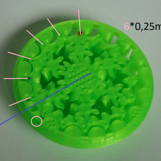 c2.PNG Download free STL file Print in Place- Distance Measuring Roll Tool • 3D print object, SunShine