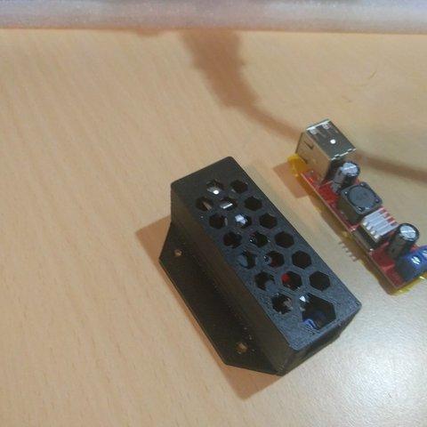 Télécharger fichier STL gratuit LM2596 boîtier double pour module usb • Design imprimable en 3D, a69291954
