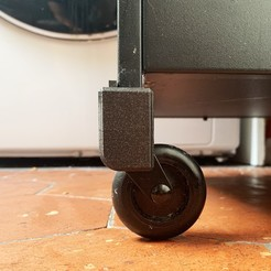 IKEA 01.jpg Download STL file IKEA WHEEL LOCK • 3D printer object, Rom_imprim3D