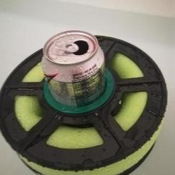 Free 3D printer files Floating Drink Holder (From Reused Spool), DraftingJake