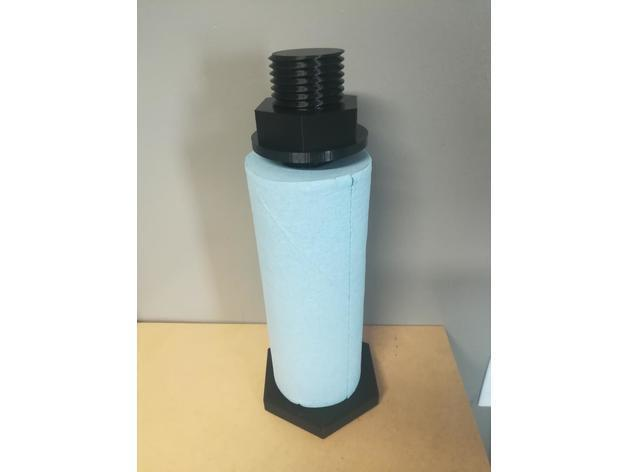 924c52ed896d74f60433fa66f0c81e17_preview_featured.jpg Download free STL file Giant Bolt Paper Towel Holder • 3D printer model, DraftingJake