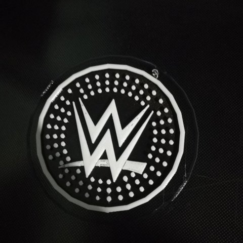 Download free STL WWE Logo Coaster, DraftingJake