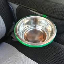 Free STL file Truck Dog Bowl Holder, DraftingJake