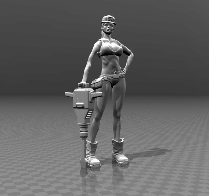 c8494f54bb6da8c902ce6a2f667a16dd_display_large.jpg Download free STL file Woman worker • 3D printing template, FiveNights