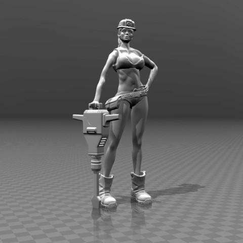 Download free 3D printing models Woman worker, FiveNights