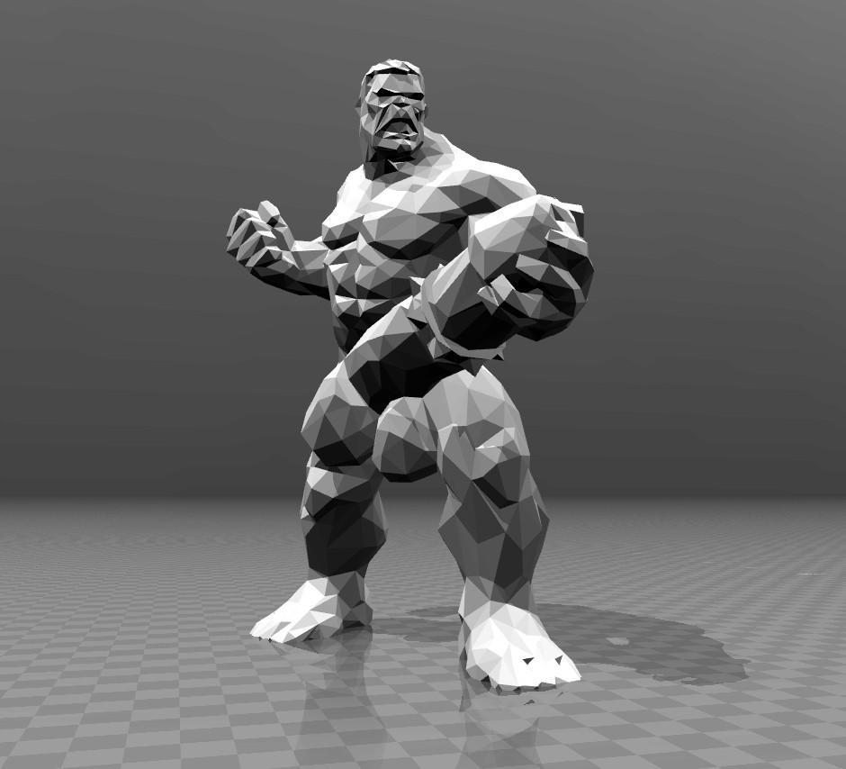 86c6e14cb23a27306fa77d7f009ee5a4_display_large.jpg Télécharger fichier STL gratuit Naked Hulk - Low Poly • Plan imprimable en 3D, FiveNights
