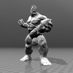 Free 3D printer model Naked Hulk - Low Poly, FiveNights