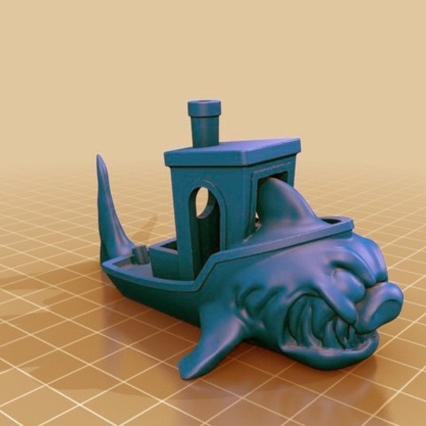 Download free 3D printing designs ⭐ Megalodon Benchy ⭐, FiveNights
