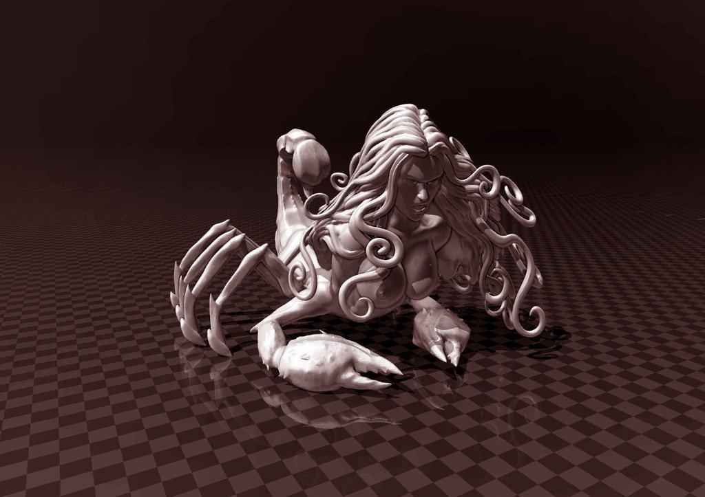 6a9aa32f8cfc044b097d99fc26e985f3_display_large.jpg Télécharger fichier STL gratuit Fille Scorpion • Plan pour imprimante 3D, FiveNights