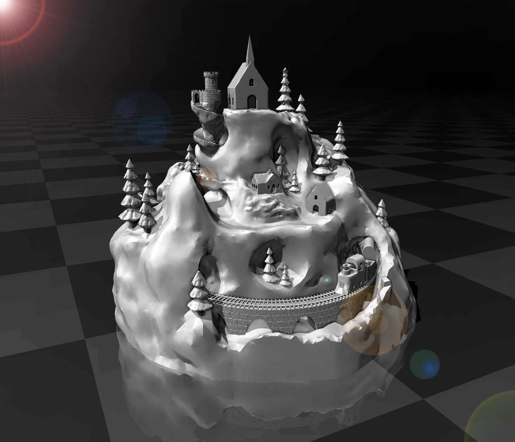 9fcaac9cda2e69a9c972a2cb25bd4bae_display_large.jpg Download free STL file Christmas Village • 3D printing model, FiveNights