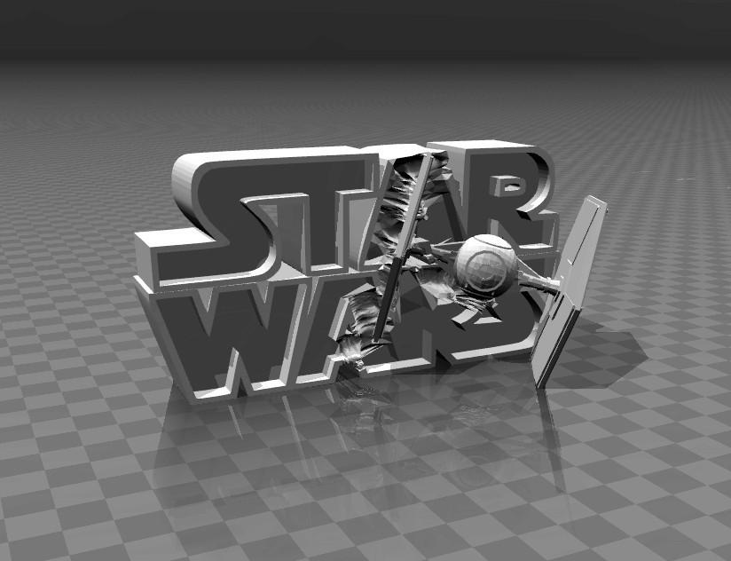 3a89ab1615ab330d44def47f7267839c_display_large.jpg Télécharger fichier STL gratuit ⭐⭐⭐⭐⭐⭐ Star Wars - logo 3D • Design imprimable en 3D, FiveNights