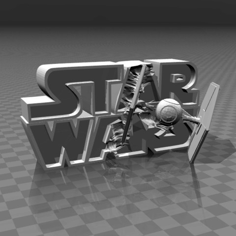 Free 3D printer designs ⭐⭐⭐⭐⭐ Star Wars - 3D logo, FiveNights