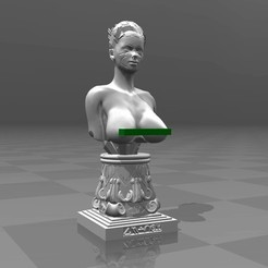 Free STL files Female Sci-Fi Bust, FiveNights