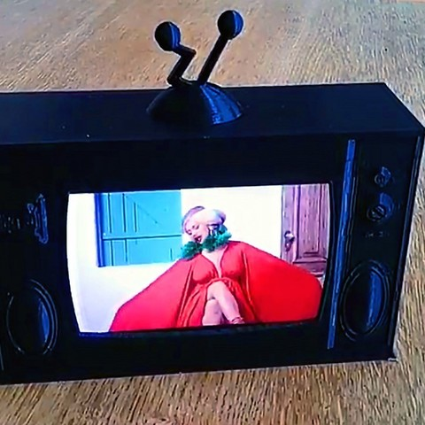 Download free 3D printing files Retro Style Working Miniature Television, FiveNights