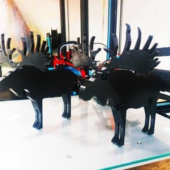 Download free 3D printer designs Swedish Moose (Deer), FiveNights
