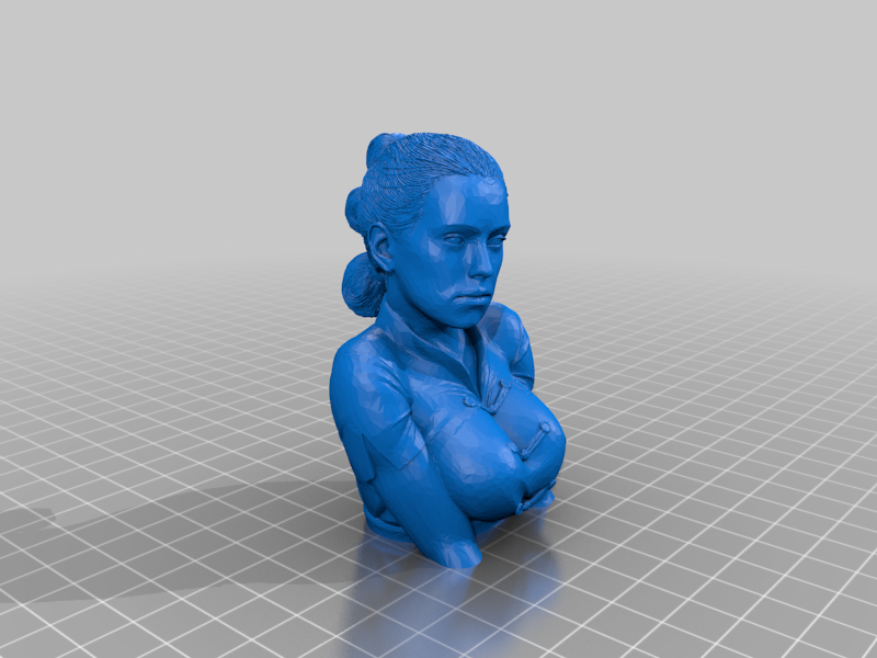 Rey_Skywalker_-_Daisy_Ridley_bust.png Download free STL file Rey Skywalker - Daisy Ridley (bust) • 3D printer object, FiveNights