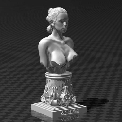 Download free 3D printer designs Rey Skywalker Bust - Star Wars (Daisy Ridley), FiveNights