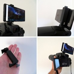 Download free STL files Camera hot shoe - Universal phone holder, FiveNights