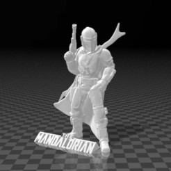 Untitled-2.jpg Download free STL file The Mandalorian (Support Free) ✰✰✰ • Design to 3D print, FiveNights