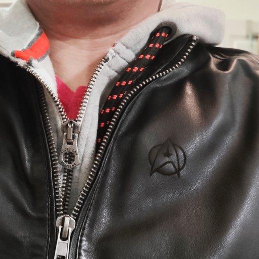 83997147_10157245429610000_2008410274788278272_o.jpg Download free STL file Star Trek logo on a leather jacket • 3D printer design, FiveNights