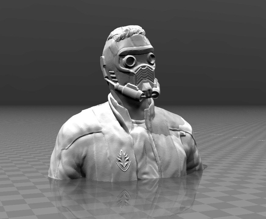 5f76448058d9651e69d37ca6eab7b3d8_display_large.jpg Download free STL file Guardians of the galaxy - Star Lord Bust • 3D print model, FiveNights
