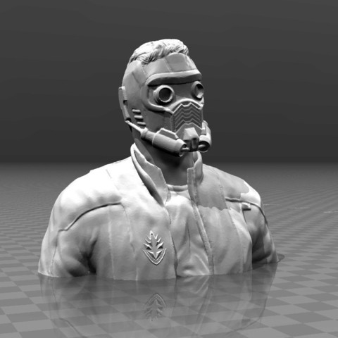 Download free 3D printer model Guardians of the galaxy - Star Lord Bust, FiveNights