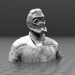 Free 3D model Guardians of the galaxy - Star Lord Bust, FiveNights