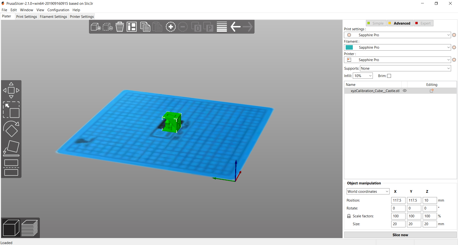 PrusaSlicer_Saphire_Pro_config.jpg Download free GCODE file PrusaSlicer - Sapphire Pro - Profile • 3D printing object, FiveNights