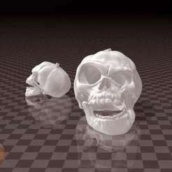 Halloween_Pumpkin_Skull.jpg Download free STL file Halloween Pumpkin Skull • Template to 3D print, FiveNights
