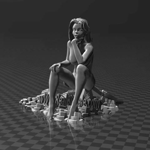 Descargar modelo 3D gratis El Pensador - Chica, FiveNights