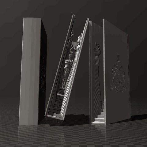 62eb2450c366a1e50af7f299f8d112b9_display_large.jpg Download free STL file Bookshelf Insert - Magic Book II • 3D printer model, FiveNights