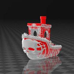 Ghostship_Benchy.jpg Download free STL file Dual Color - Ghostship Benchy • 3D printable design, FiveNights