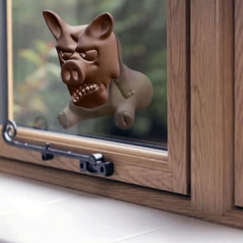 Download free 3D print files Angry Pig - Window Decoration, FiveNights