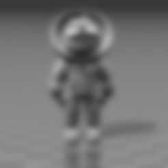 Barney_Astronaut.stl Download free STL file Barney Astronaut • 3D printing model, FiveNights