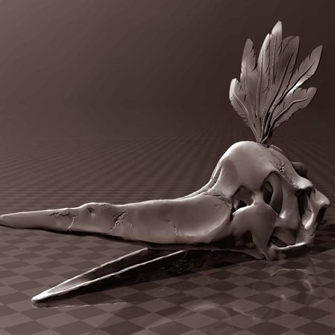 Download free 3D printing designs Pteranodon skull, FiveNights
