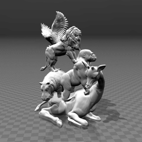 de1dfd8d12a912e53fbc24fcc42492ea_display_large.jpg Download free STL file African Animal - Pyramid • 3D printable template, FiveNights