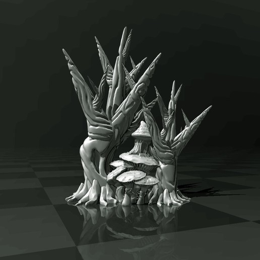 Download free 3D printing models Sci-fi Forest (support free) 3D Printer and Filament TEST, FiveNights