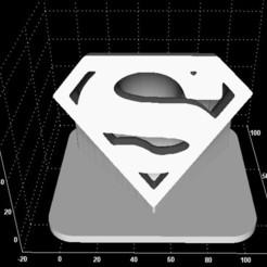 Descargar archivos 3D gratis Logotipo de Superman (impresión fácil), Stevejawel
