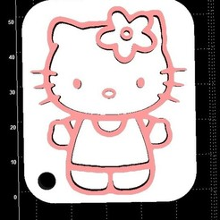 Download free 3D printing templates Hello Kitty Keyhangers, Stevejawel